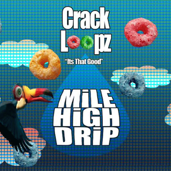 "Mile High Drip ""Crack Loopz"" is back in stock at Voltage Vapin'!"