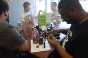 Thanks to our very own Kevin for hosting this Saturday's rebuild class @ Voltage Vapin'!!