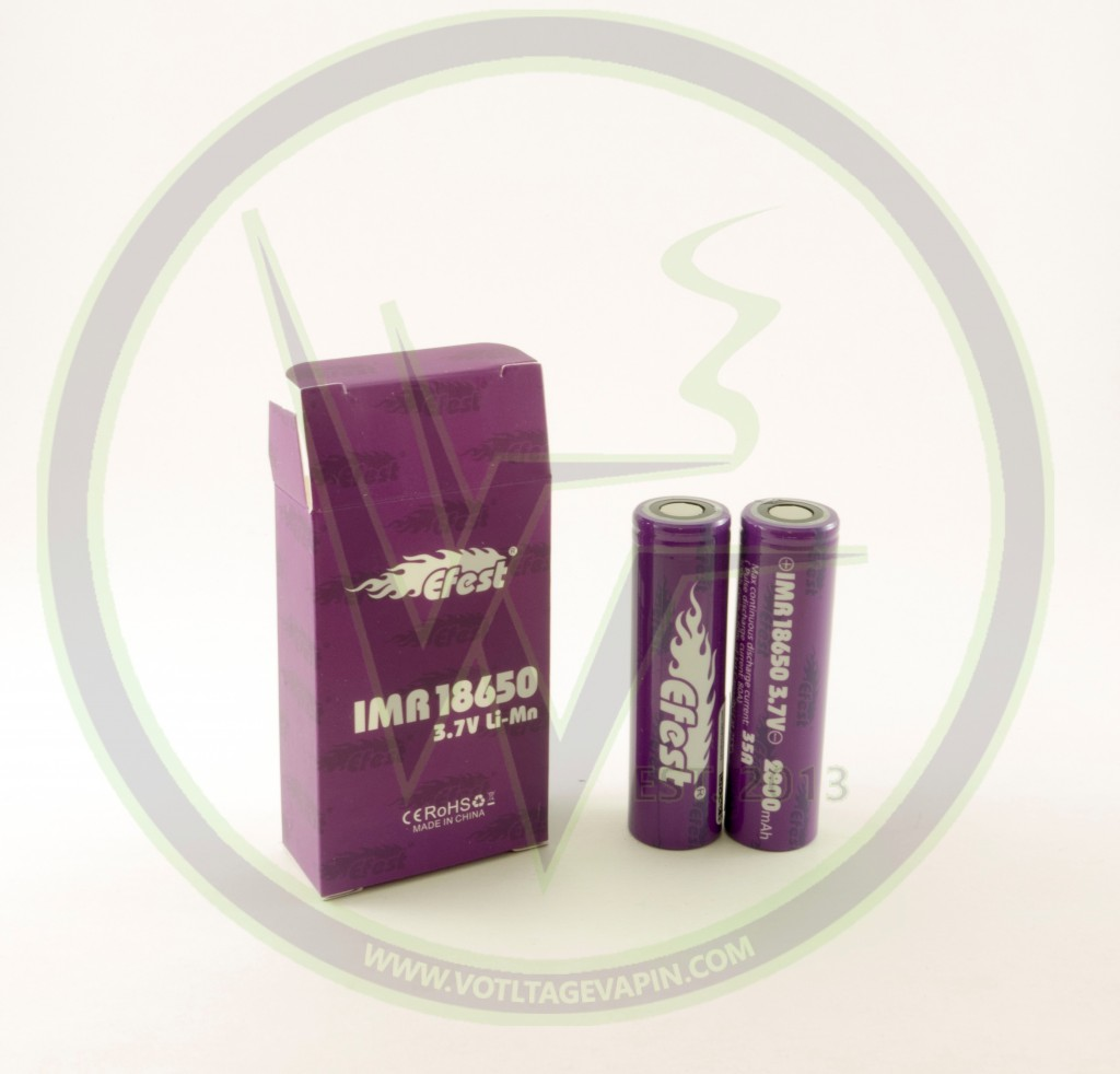 New and improved IMR 18650 35A 2800mah Purple Efest's are now in stock at Voltage Vapin'!