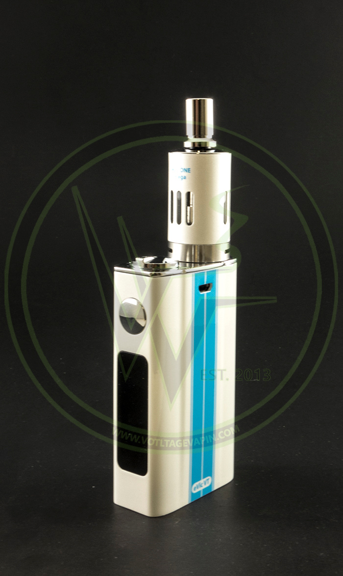 In stock at Voltage Vapin' are the Dazzling White eVic-VT Starter Kits, and Anubis Full Kit!
