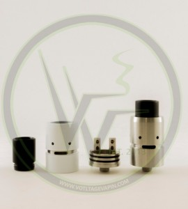 White Velocity Clone RDA is back in stock at Voltage Vapin'!
