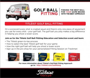 Exclusive Titleist Ball Fitting event Thursday September 10 at Independence