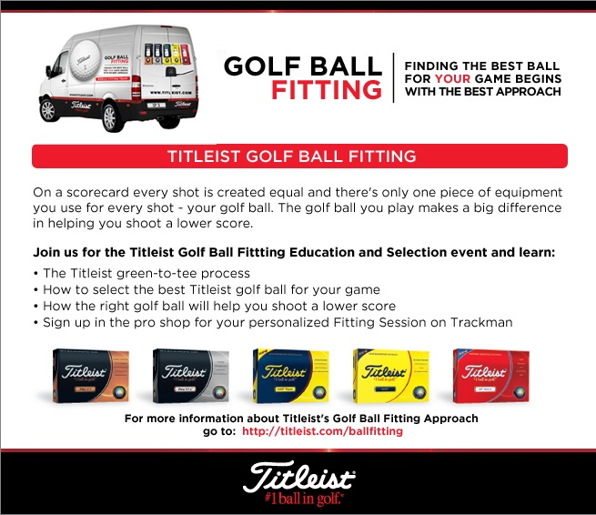 Read more about the article Exclusive Titleist Ball Fitting event Thursday September 10 at Independence