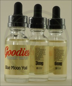 New Goodies flavor in Stock at Voltage Vapin'; Blue Moon Yogi!