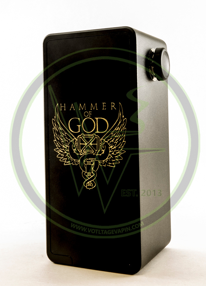 The Authentic Temple 26650 RDA and Hammer of God Dual Parallel Series Boxes now in stock here at Voltage Vapin'!