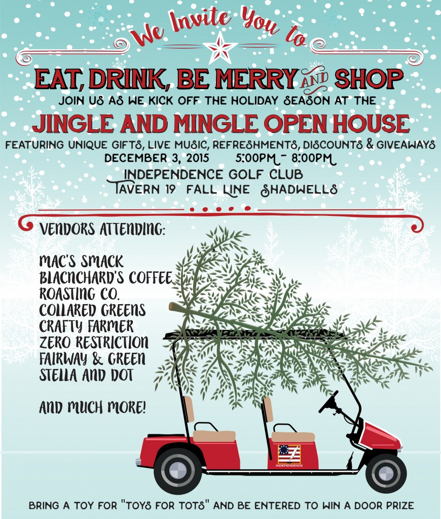 Come out and join us this Thursday 12/3 at the Independence GC Open House