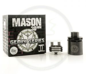 The Mason Gemini RDA is back in stock at Voltage Vapin'!