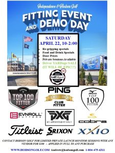YEARLY DEMO/FITTING EVENT THIS SATURDAY 4/22/17 10-2:00 AT INDEPENDENCE!