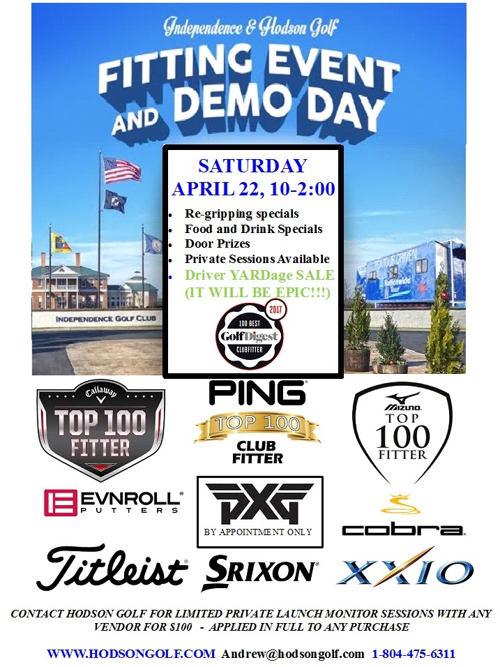 You are currently viewing YEARLY DEMO/FITTING EVENT THIS SATURDAY 4/22/17 10-2:00 AT INDEPENDENCE!