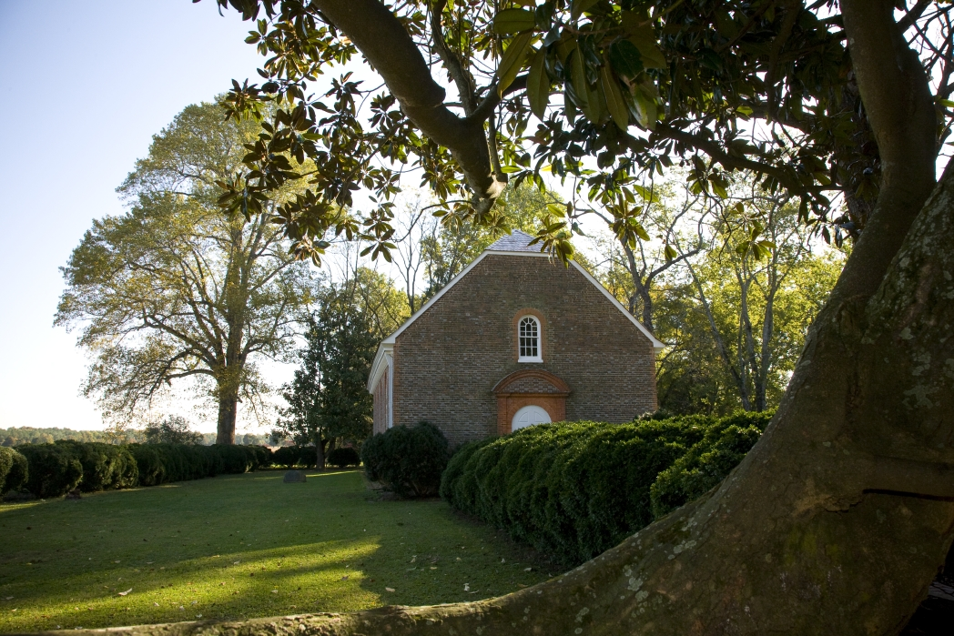 Historic Westover Church in Charles City.