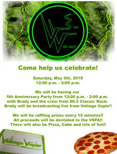 It's almost time to party!  Help us celebrate our 5th anniversary!