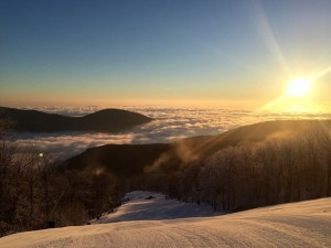 Wintergreen Resort Sunrise Winter 2015