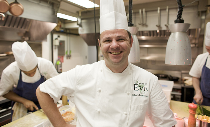 Chef Cathal Armstrong in the kitchen of his Restaurant Eve in Old Town Alexandria. www.Virginia.org, Virginia Tourism Corporation Photo must be credited: CameronDavidson@CameronDavidson.com