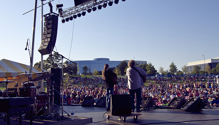 The Richmond Folk Festival on Brown's Island held in October.